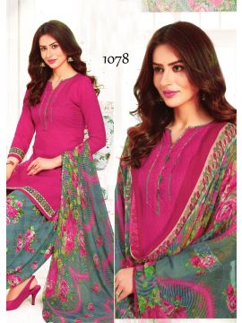 BIBO STYLE -  1078   Pink Color Syntetic  Salwar Material CM492795
