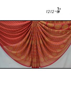 Devi - 1212-B    Red  Color  Synthetic Saree CM513131