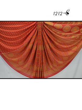 Devi - 1212-C    Red  Color  Synthetic Saree CM513131
