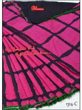 Pink Color Synthetic Saree