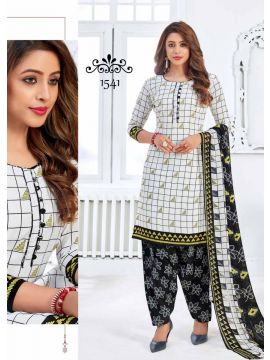 JIO -  1541   White Color Synthetic  Salwar Material CM492798
