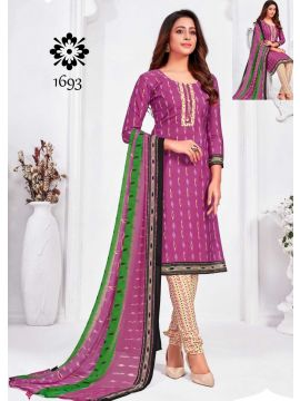 HOT LINE -  1693   Pink Color Synthetic Salwar Material CM508055