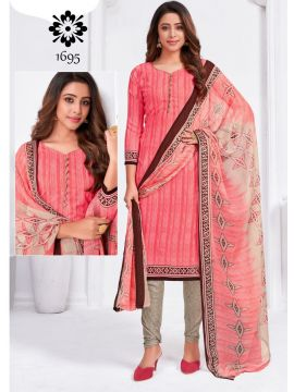 HOT LINE -  1695    Pink Color Synthetic Salwar Material CM508055