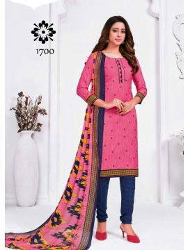 HOT LINE -  1700  Pink Color Synthetic Salwar Material CM508055
