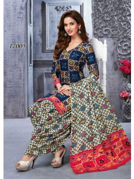 KAAMINI VOL-12 -  17005  Peacock Green  Color Cotton Salwar Material CM450146
