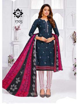 HOT LINE -  1703   Navy Blue Color Synthetic Salwar Material CM508055
