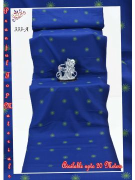 PRANJUL TOP MATERIALS  -  333-A    Blue  Color Pure Cotton Top  Material (Up to 20 Meters) CM509476