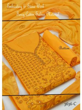 EVEREST - 3636-C    Yellow Color Synthetic Saree CM449436
