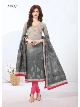 BANDHANI -  4007   Red Color Mixed Cotton Salwar Material  CM446638