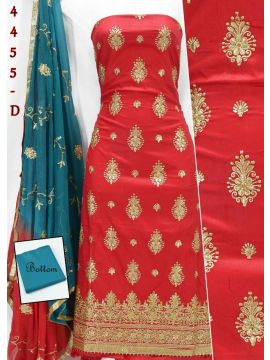 MASTHANI -  4455-D   Red  Color Cotton Salwar Material CM495325