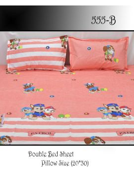 Dolphin -  555-B  Pink  Color Polyester 3d HD impression Double Bed Spread  & 2 Pillow Covers CM483259