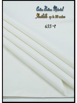 Nevah -  655-I White  Color  Cotton Bottom Material (Up to 20 Meters) CM517257
