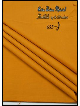 Nevah -  655-J Mustard  Color  Cotton Bottom Material (Up to 20 Meters) CM517257