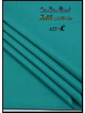 Nevah -  655-L Green  Color  Cotton Bottom Material (Up to 20 Meters) CM517257