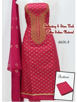 DHARSHA - 6628-A      Pink Color Cotton Salwar Material CM515163
