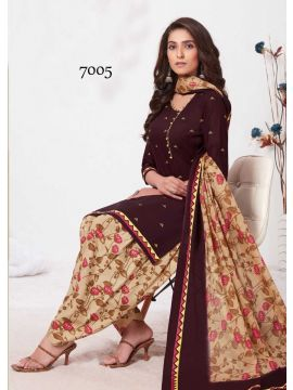 CASH AND CARRY -  7005   Maroon  Color Cotton Salwar Material CM517024