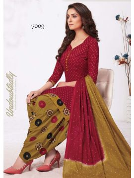 CASH AND CARRY -  7009   Red  Color Cotton Salwar Material CM517024