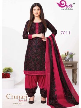 Navy Blue Color Pure Cotton Salwar Material