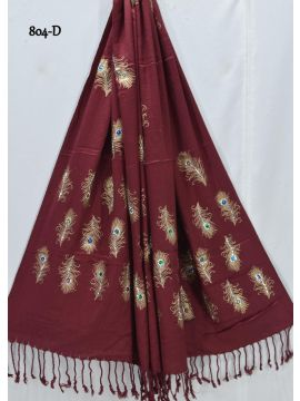 Red Chillies -  804-D    Maroon Color Pashmina Shawl CM522804