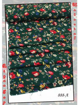 CHARU -  888-A    Green  Color Riyan  Top  Material (Up to 20 Meters) CM518174