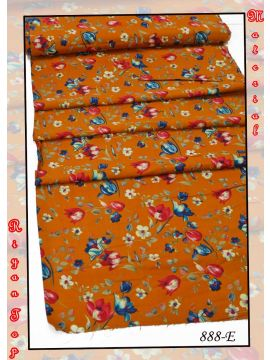 CHARU -  888-F   Yellow  Color Riyan  Top  Material (Up to 20 Meters) CM518174