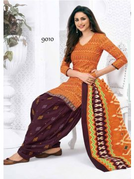 PARTIKSHA  -  9010  Navy Blue Color Cotton Salwar Material CM401170
