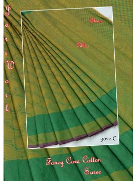 YAMINI - 9022-C   Green Color Raw Silk Saree CM349022