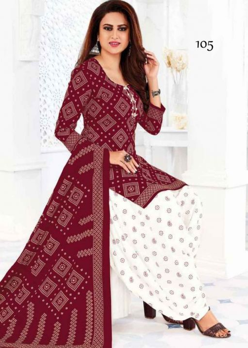 Maroon Color Pure Cotton Salwar Material