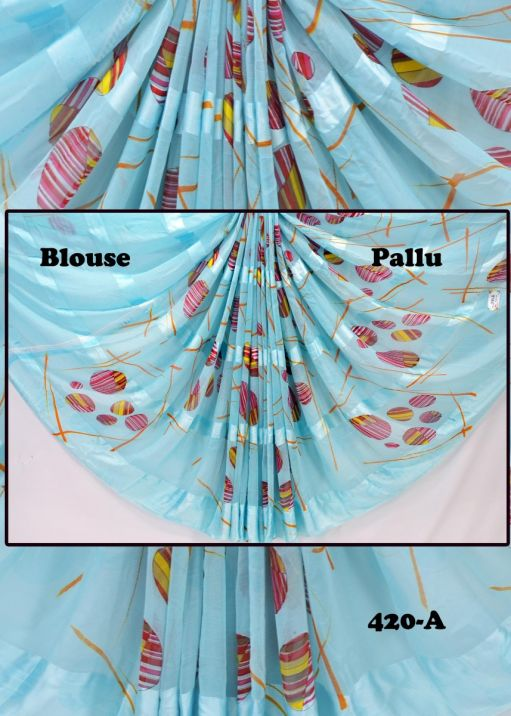 Shiva -  420-A   Sky Blue Color Cotton Shirting Bit CM420854